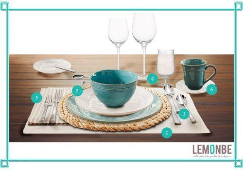 C mo poner una mesa lemonbe el color olor y sabor for Como se pone la mesa