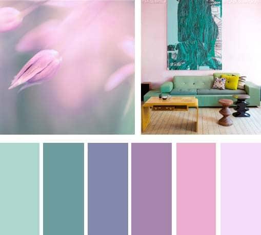 Colores lila y menta lemonbe el color olor y sabor de - Que colores combinan con el lila ...