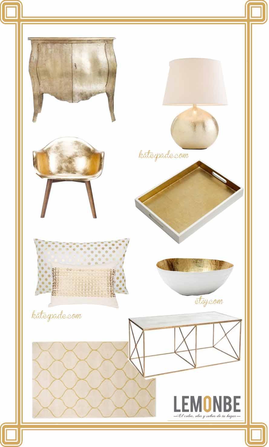 Estilo cl sico y moderno usando dorado lemonbe el for Estilo clasico moderno