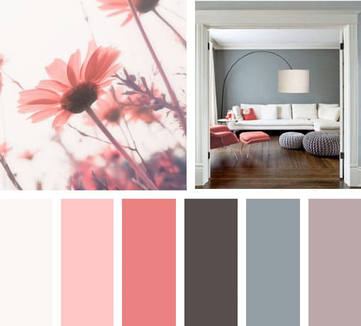 Sala color coral car interior design - Rosas color coral ...