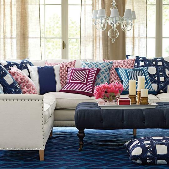 5 ideas para decorar con tela lemonbe el color olor y - Decorar pared con tela ...