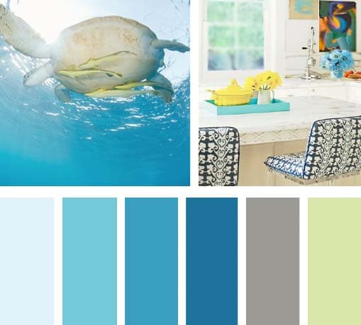Colores del agua lemonbe el color olor y sabor de tu for Colores de pintura azul