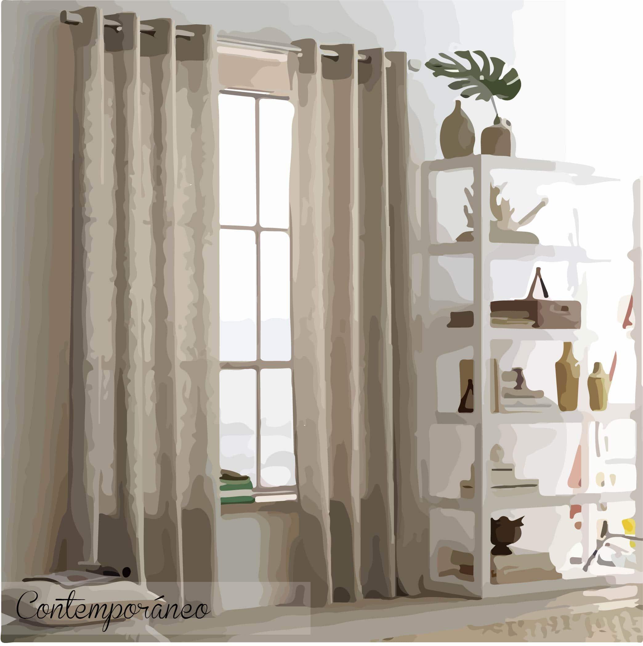 Las cortinas del siglo 21 lemonbe el color olor y - Moda en cortinas de salon ...