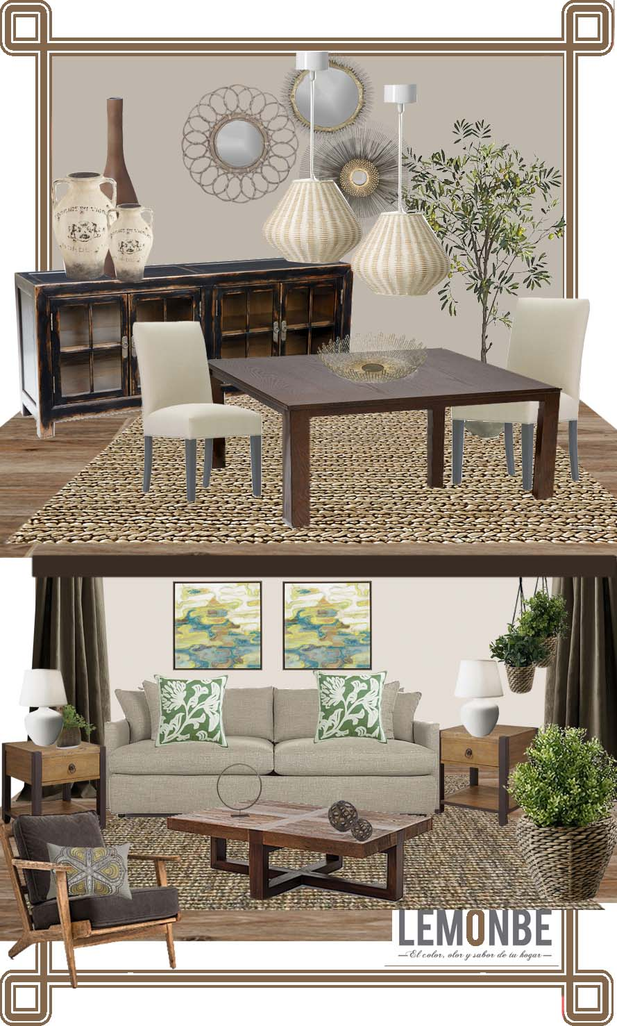 Estilo contempor neo r stico para gaby lemonbe el for Sala estilo contemporaneo