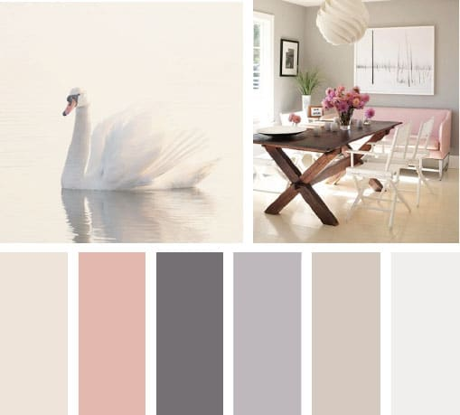 Img lemonbe color cisne rosa neutro beige sala mesa - Paleta de colores neutros ...