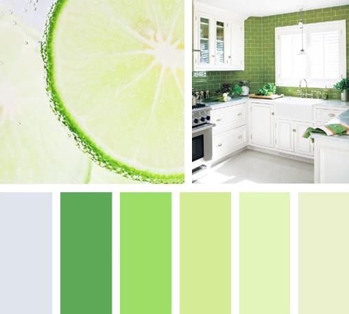 Sabor verde lim n lemonbe el color olor y sabor de tu for Paleta de grises para paredes