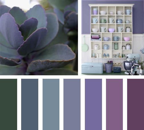 Lila verde lemonbe el color olor y sabor de tu hogar - Que colores combinan con el lila ...