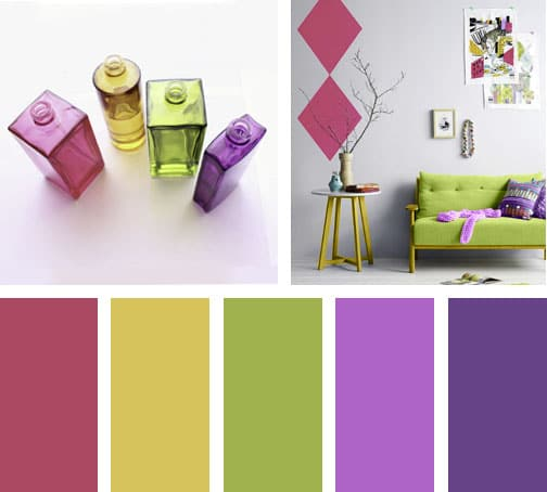 V drios de colores lemonbe el color olor y sabor de - Colores que combinan con lila ...