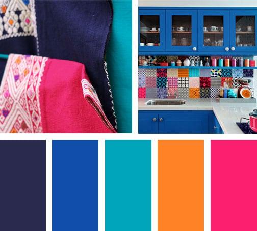 Azul y rosa mexicano lemonbe el color olor y sabor de - Paleta de colores para paredes ...