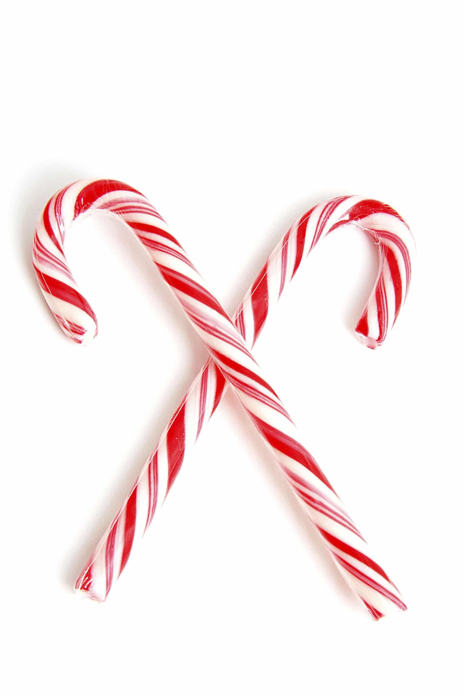 Traditional christmas candy cane  isolated on white background