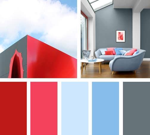 Rojo en las nubes lemonbe el color olor y sabor de tu for Paleta de colores grises