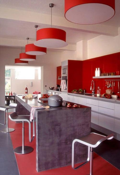 Ideas de cocinas llenas de color lemonbe el color olor - Cocina de color ...