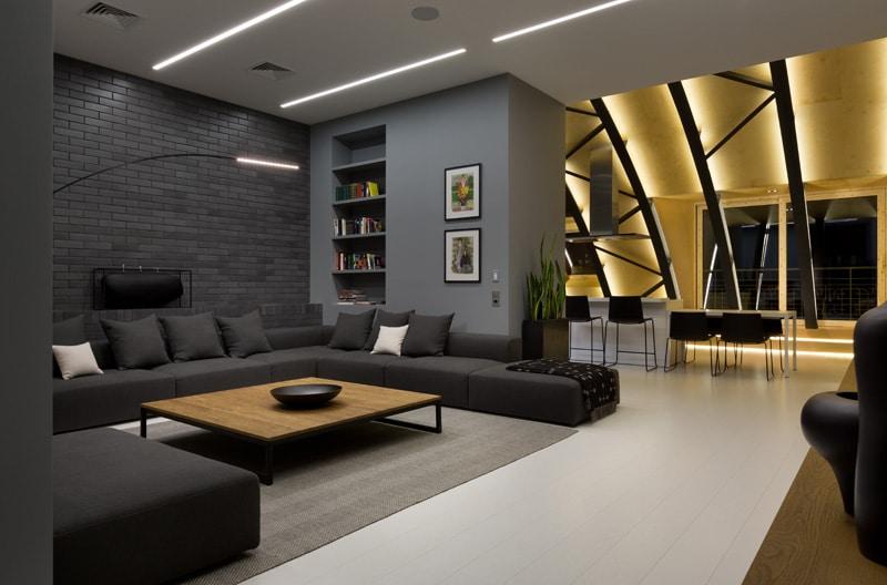 lemonbe-El techo resalta en este departamento como elemento decorativo-06