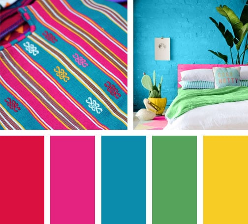 Color folclore lemonbe el color olor y sabor de tu for Paleta colores pintura pared