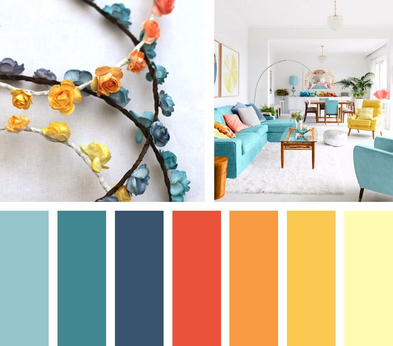 Sweet aqua lemonbe el color olor y sabor de tu hogar - Paleta de colores para paredes ...