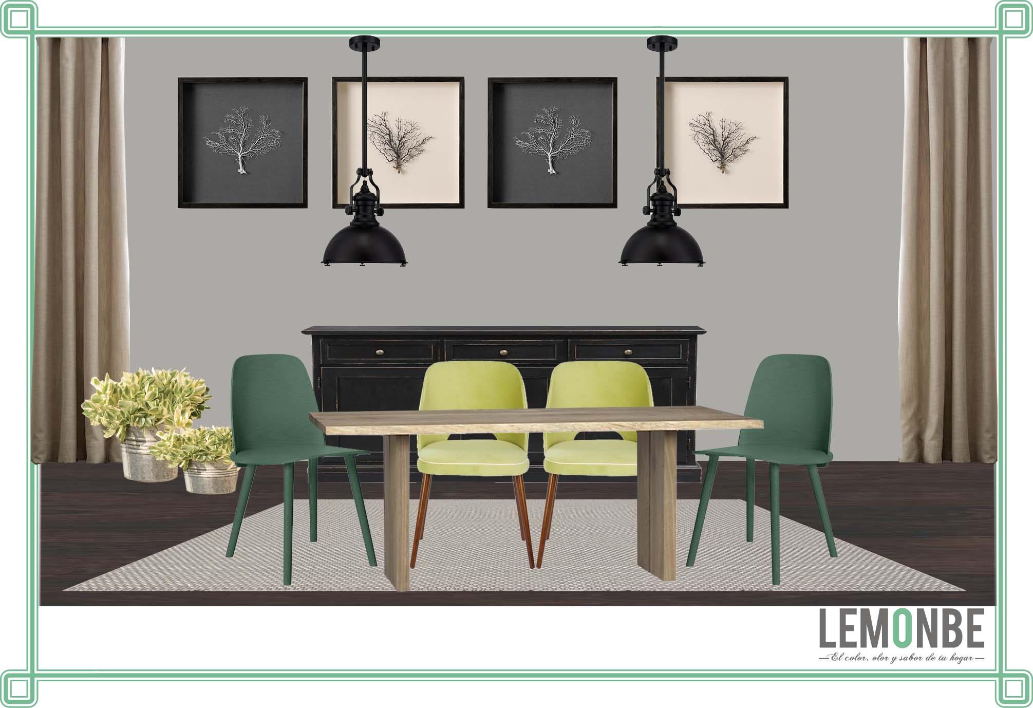 LEMONBE · Un comedor estilo urbano y contemporaneo con un ...