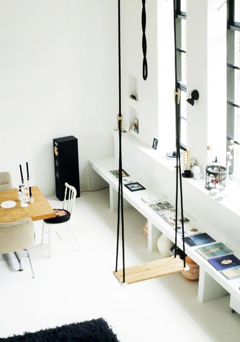 lemonbe-Ideas para colocar un columpio dentro de tu casa-01