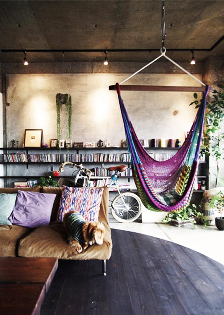 lemonbe-Ideas para colocar un columpio dentro de tu casa-09