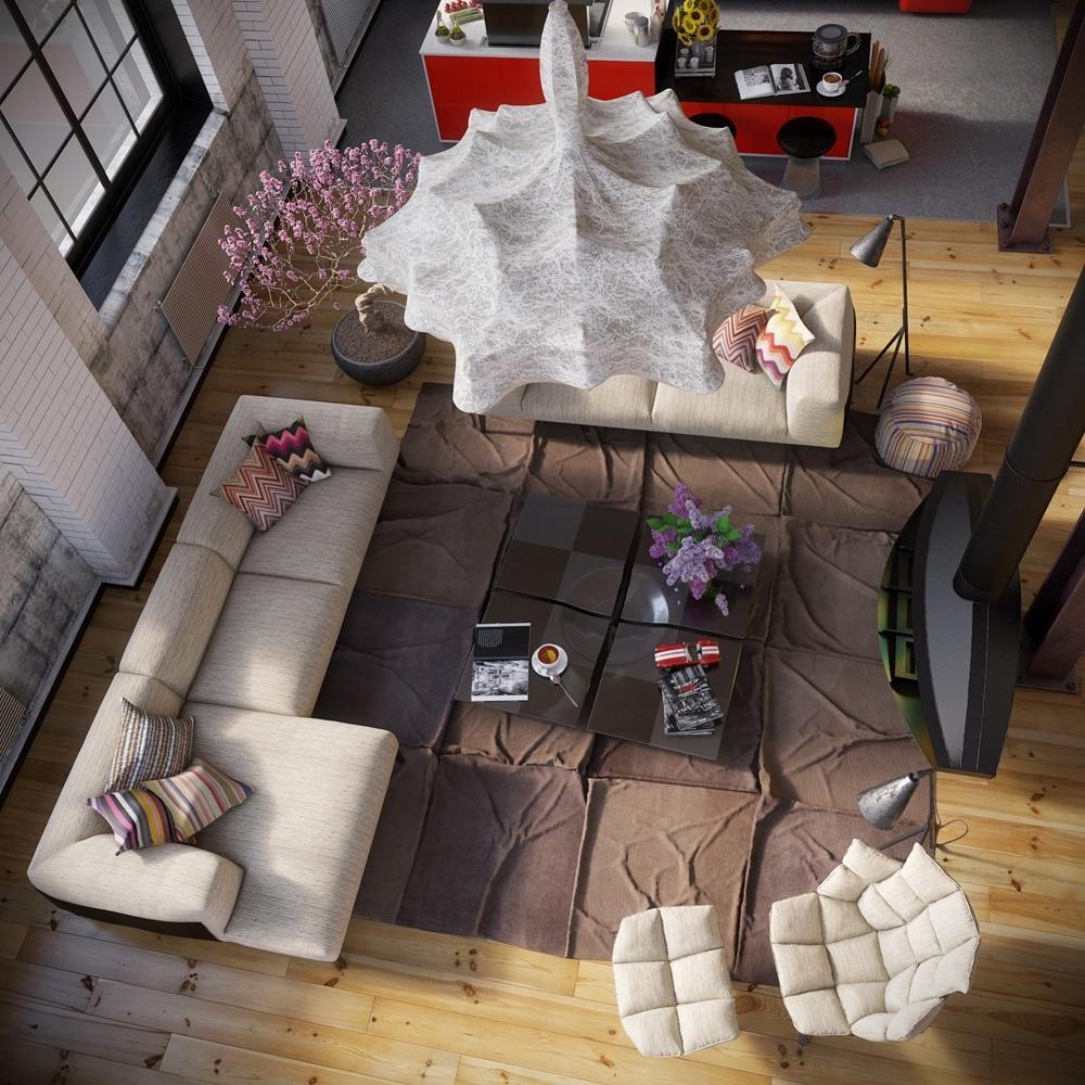 lemonbe-Un hogar que divide espacios utilizando colores en vez de paredes-01