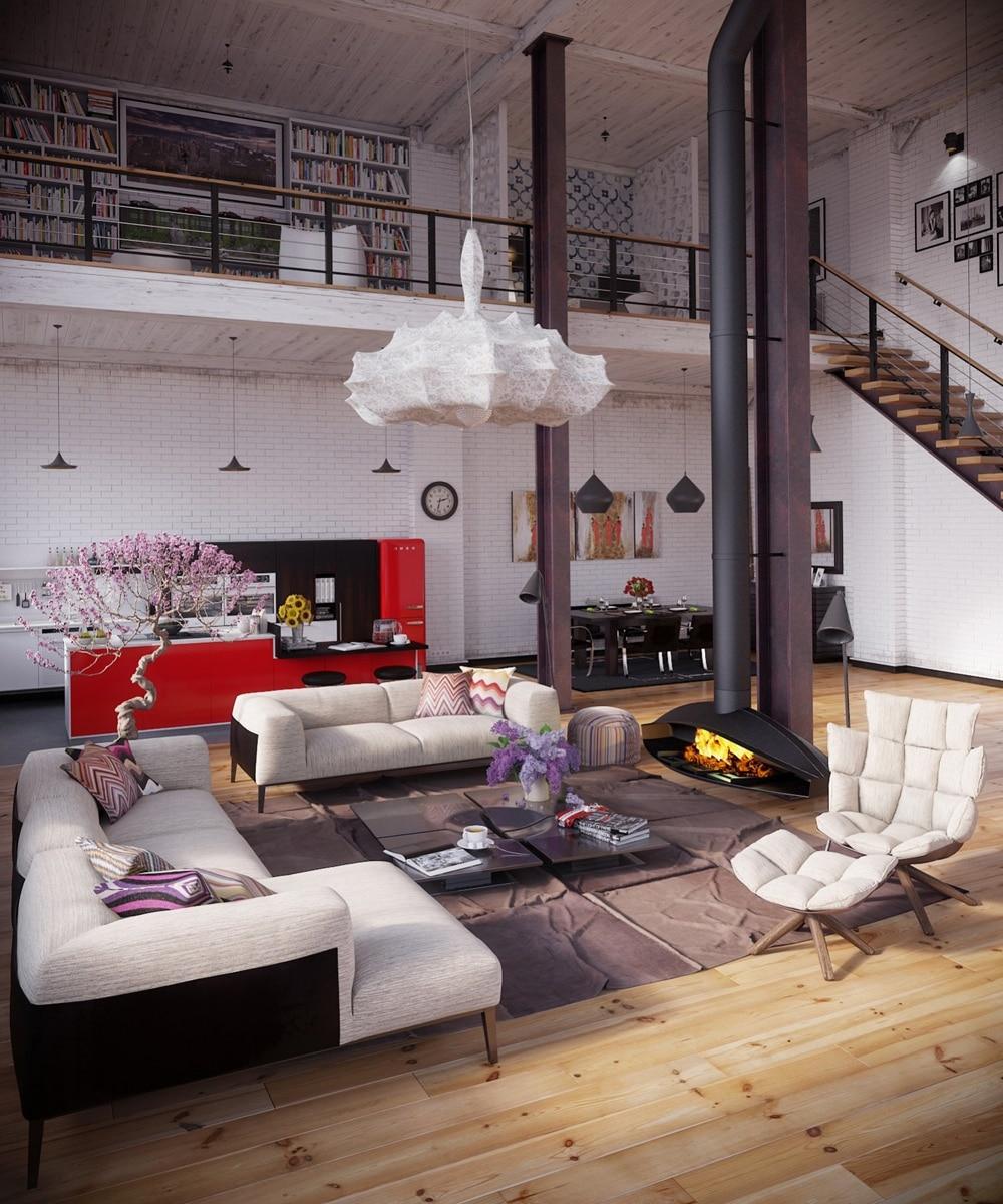 lemonbe-Un hogar que divide espacios utilizando colores en vez de paredes-02