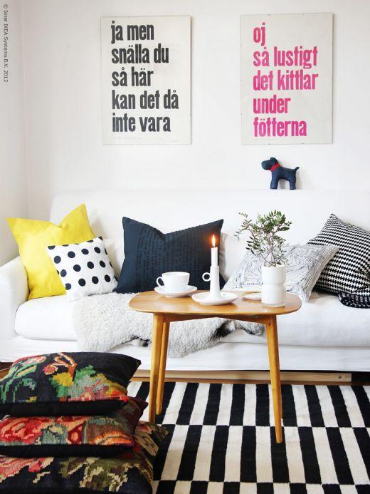 Lemonbe 10 Ideas Para Combinar Una Alfombra De Rayas En Blanco Y Negro