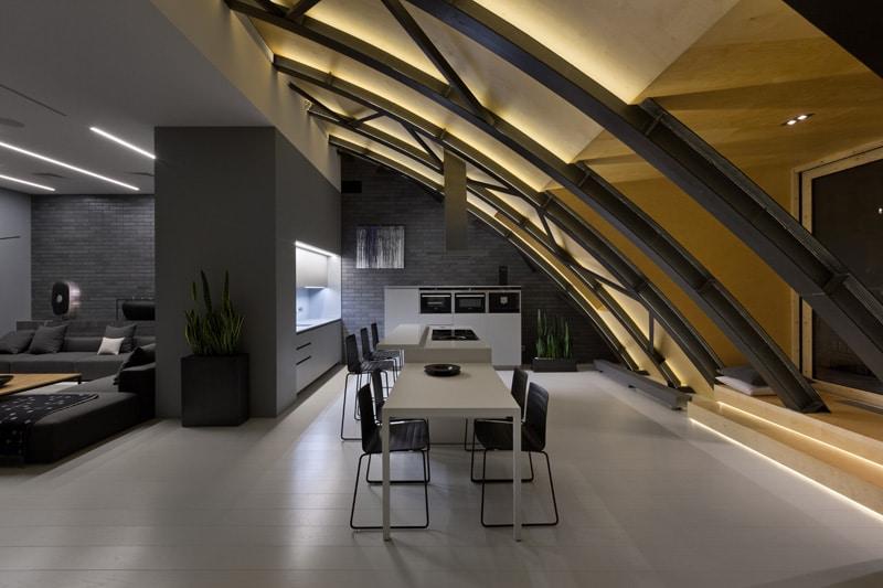 lemonbe-El techo resalta en este departamento como elemento decorativo-02