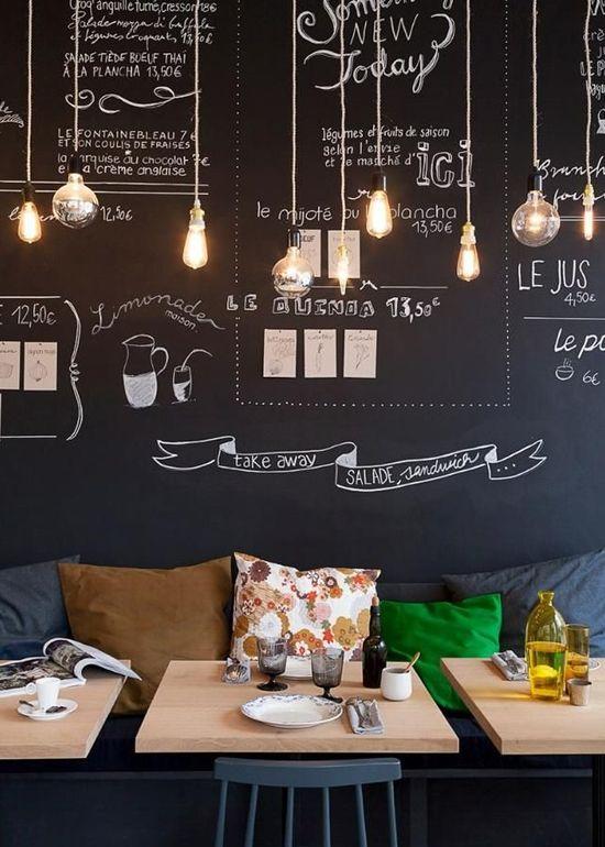10 ideas para tener una pared pizarr n en tu hogar - Ideas para el hogar ...
